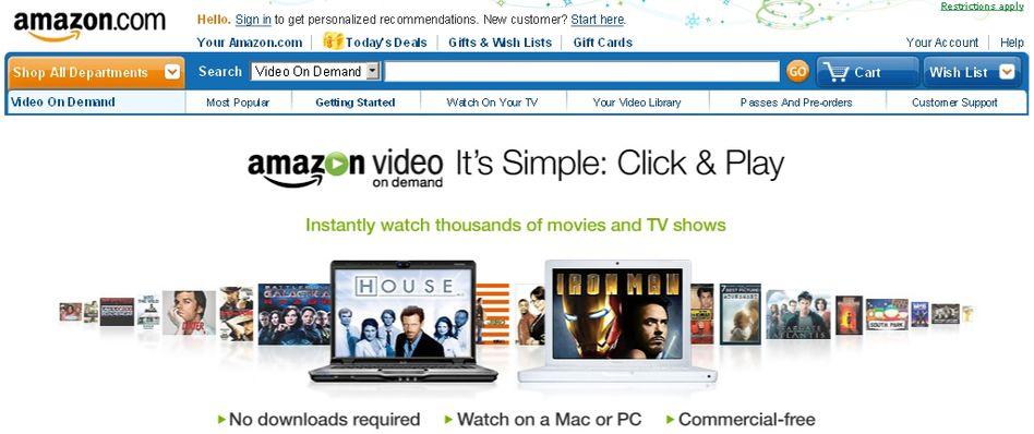 Amazon, jetzt auch Online-Videothek: Wie so oft zunächst nur in den USA