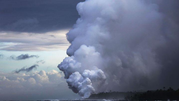 Vulkanausbruch auf Hawaii: Heiße Lava trifft kaltes Meer