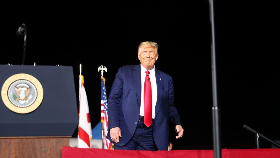 Donald Trump während eines Wahlkampfauftritts in Pensacola, Florida