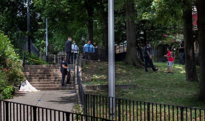 Mord im Park: Tatort in Crown Heights, einem Viertel in Brooklyn