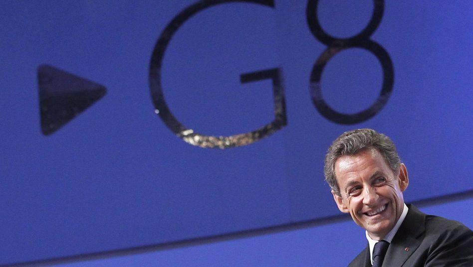 Nicolas Sarkozy beim G-8-Gipfel: Mit reiner Willensanstrengung das Netz verändern?