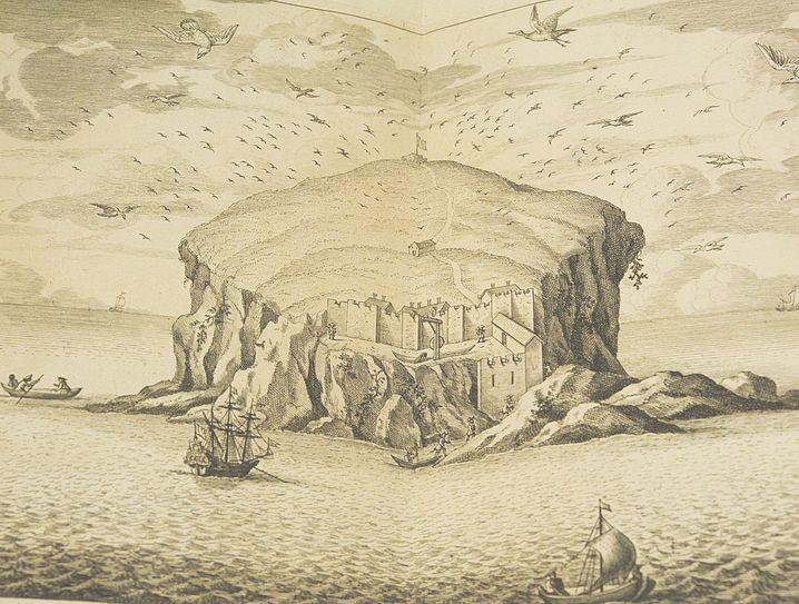 Eine Insel, die echte Einsamkeit verspricht: »Bass Rock from the South«, gemalt um 1700