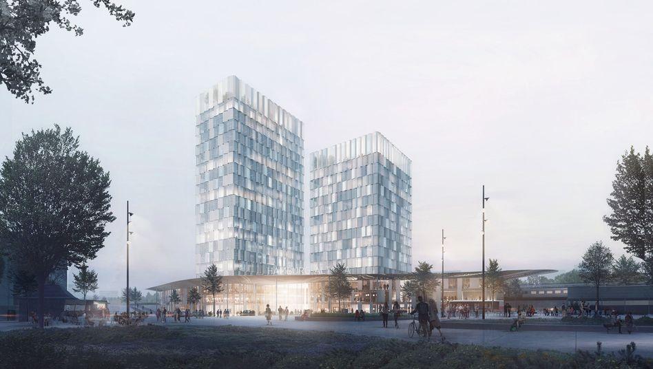 Entwurf des Architektenbüros C.F. Møller