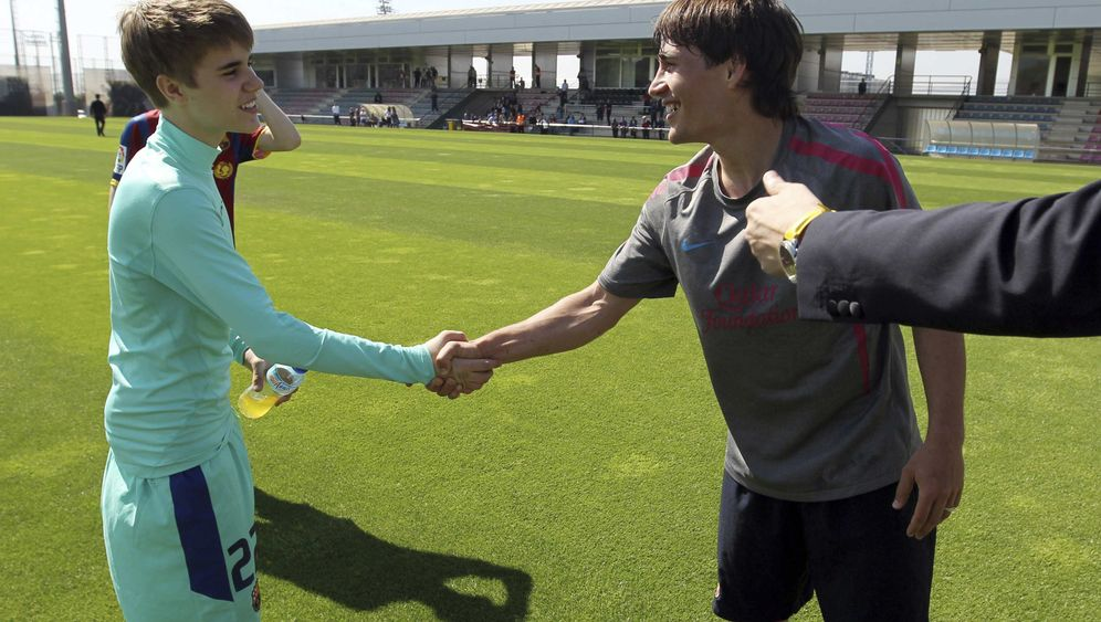 Bieber-Fieber: Kicken beim FC Barcelona