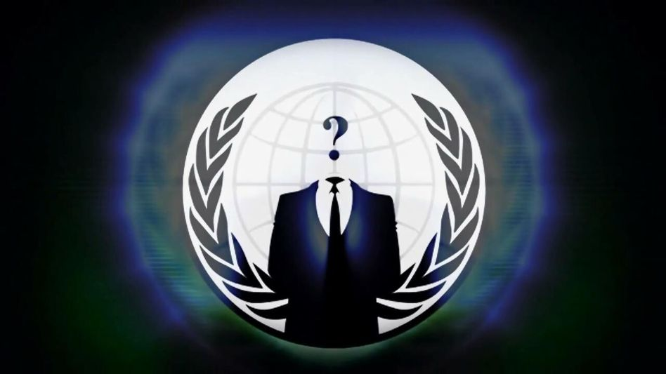 "Anonymous-Logo: ""Holt euch Popcorn"""