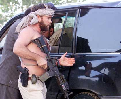 Schutz vor Anschlägen: US-Elitesoldaten als Leibwächter des afghanischen Präsidenten
