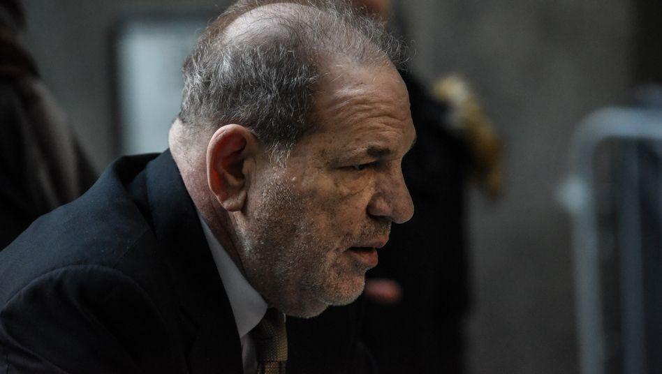 Harvey Weinstein während des Prozesses vorm New Yorker Strafgericht