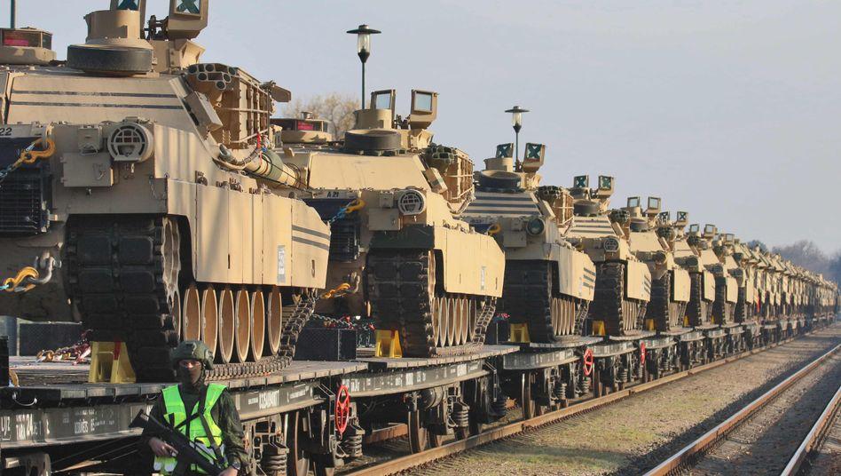 """""""Abrams""""-Panzer der US-Armee (Archivbild): Schon bald neue Einheiten in Ostsyrien"""