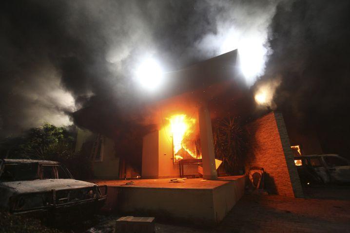 Brennende US-Vertretung in Bengasi am 11. September 2012