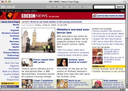 BBC-Website: Nicht im Visier der EU-Kommissare