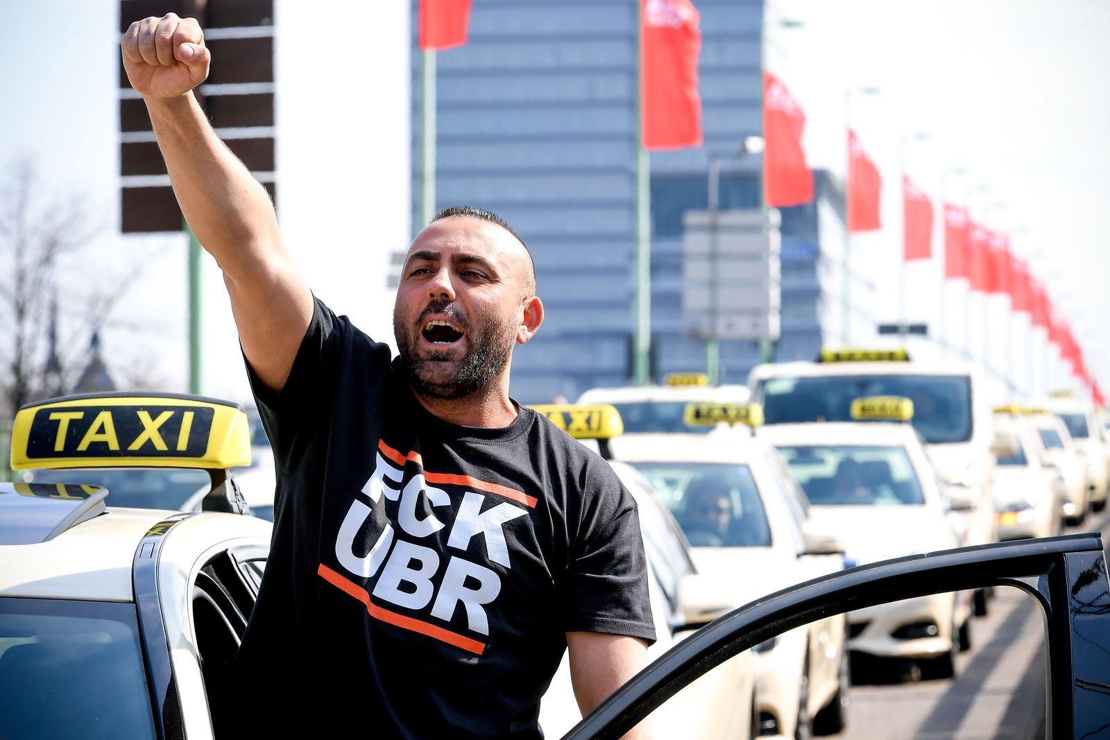 Protest Taxifahrer
