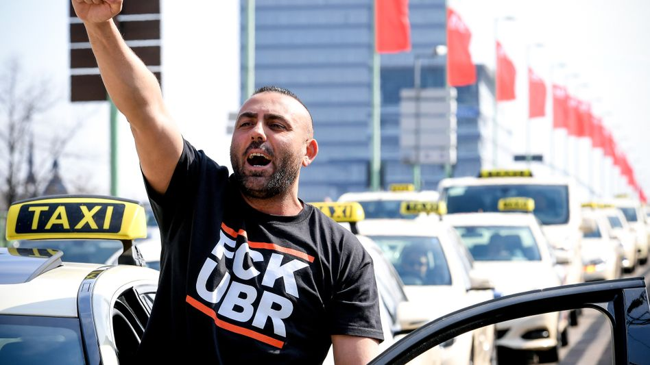 Wütender Taxifahrer in Köln