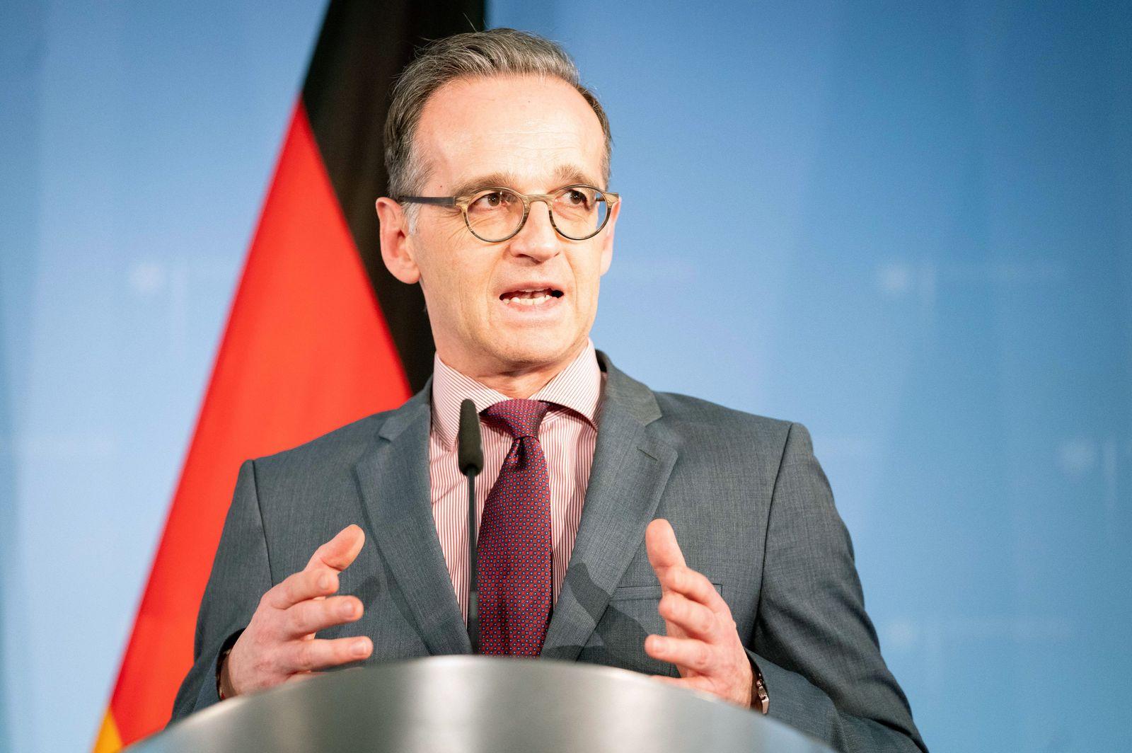 Maas warnt vor «Spirale nationaler Egoismen» in Corona-Krise