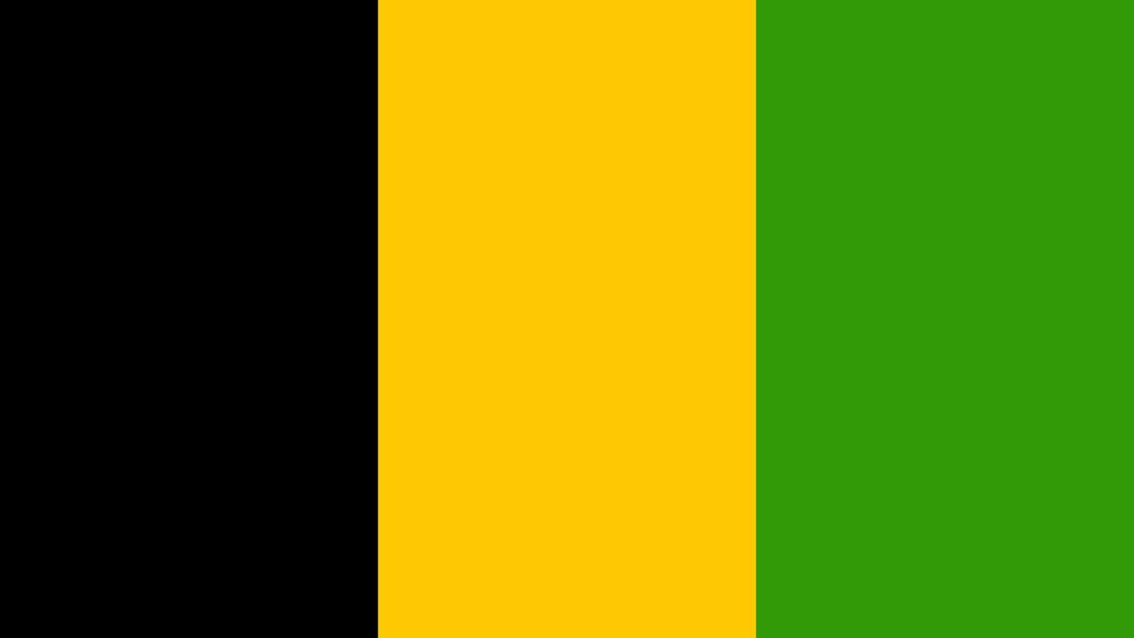 Grafik - Koalition Flagge - Jamaika - Schwarz-Gelb-Grün