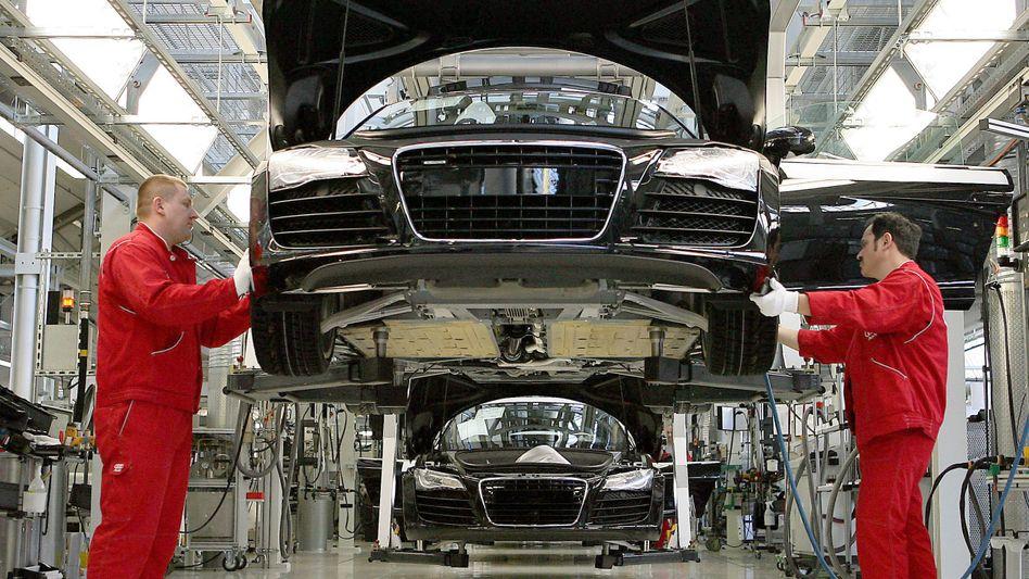 Audi-Werk in Neckarsulm: Drittes Plus bei Industrieaufträgen in Folge
