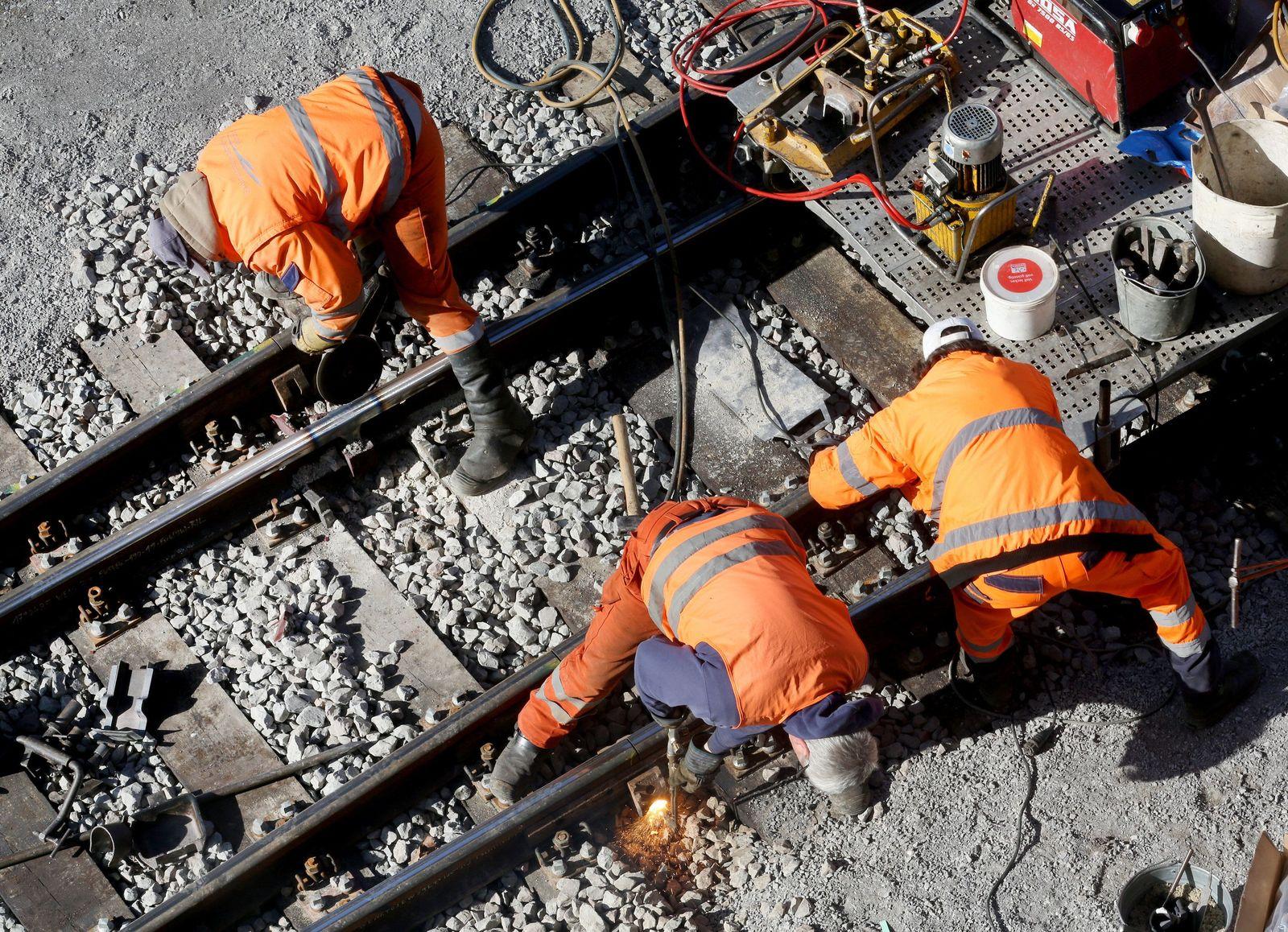 Bauarbeiter Bahn