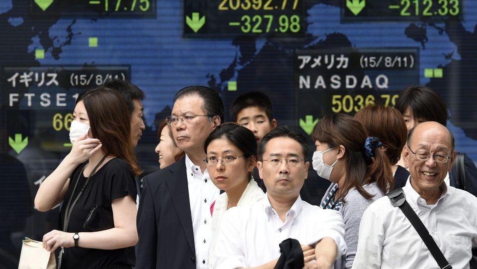 Börse in Tokio: China verunsichert die Märkte