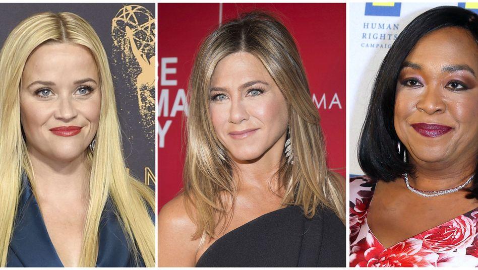 """Time's Up""-Unterstützerinnen Reese Witherspoon, Jennifer Aniston, Shonda Rhimes"