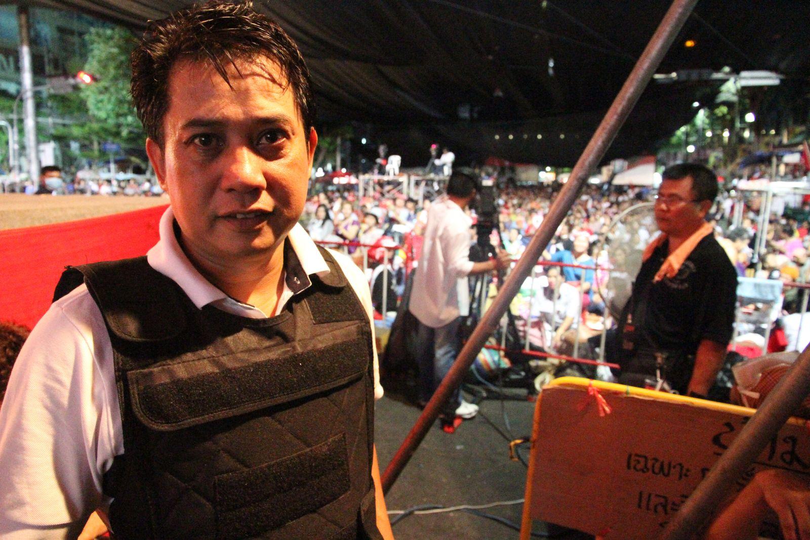 EINMALIGE VERWENDUNG Thielke / Bangkok / Unruhen / Arisman Pongruengrong