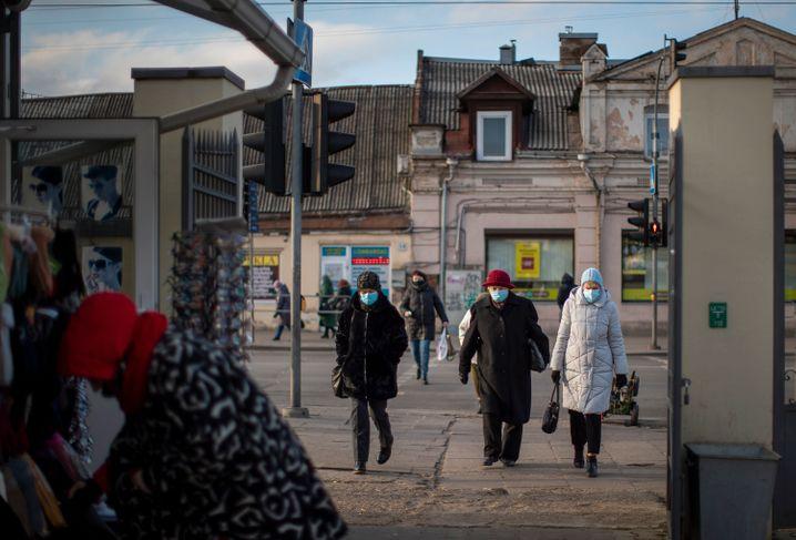 Seit Dienstag gelten in Litauen verschärfte Corona-Maßnahmen (Foto aus Vilnius vom Vortag)