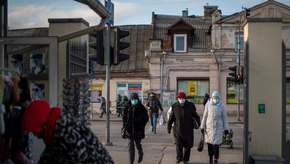 Straßenszene in Vilnius: In Litauen sind die Erbschaftsteuereinnahmen besonders niedrig