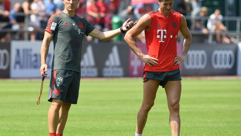 Bayern-Coach Kovac, Stürmer Lewandowski