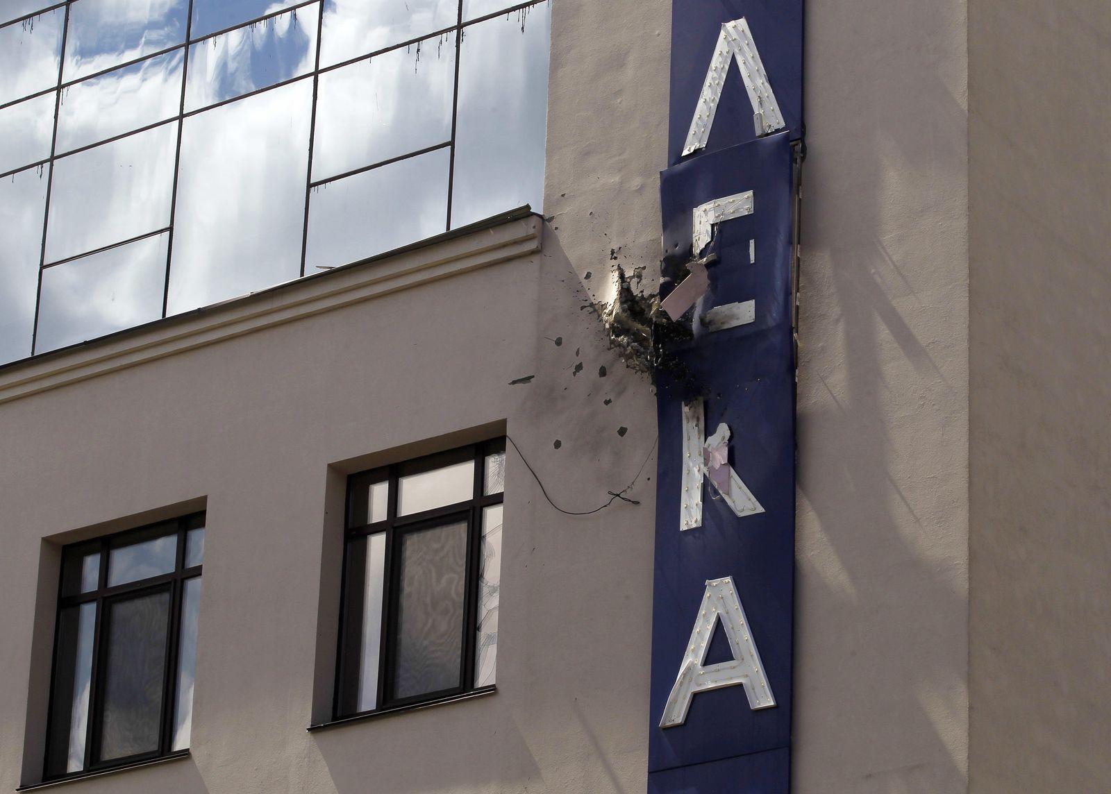 Ukrainischer Fernsehsender mit Granatwerfer beschossen