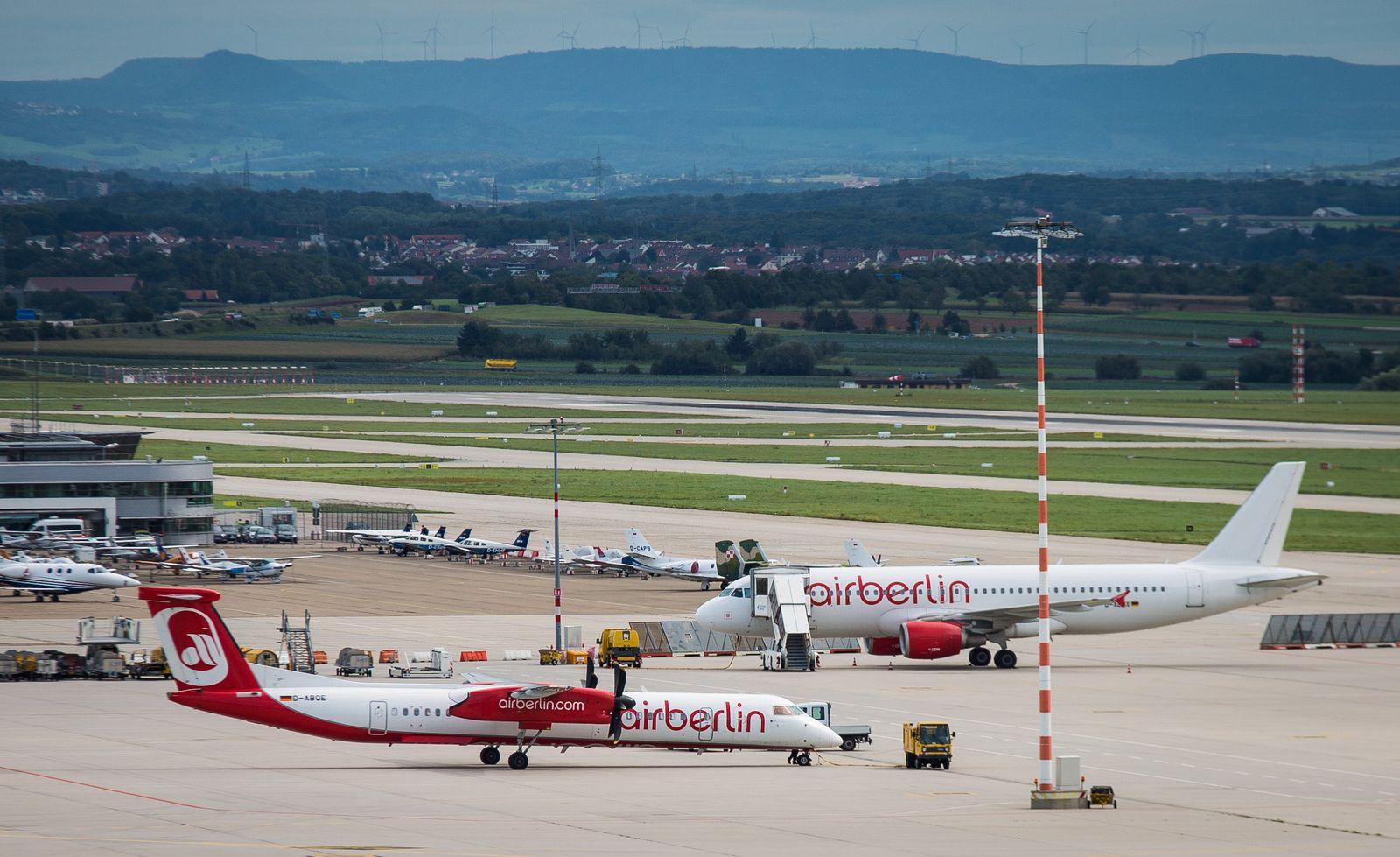 Flugausfälle bei Air Berlin und Eurowings