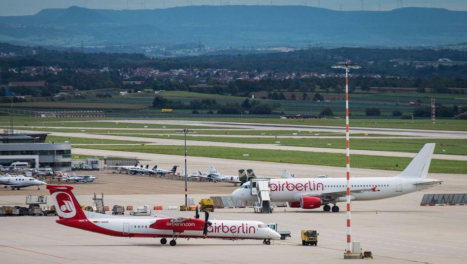 Maschinen von Air Berlin in Stuttgart