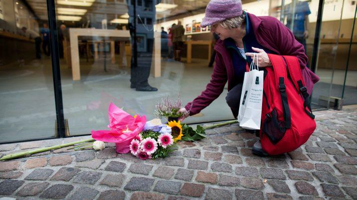 Apple-Fans: Blumen für Steve, Trauerflor fürs Web
