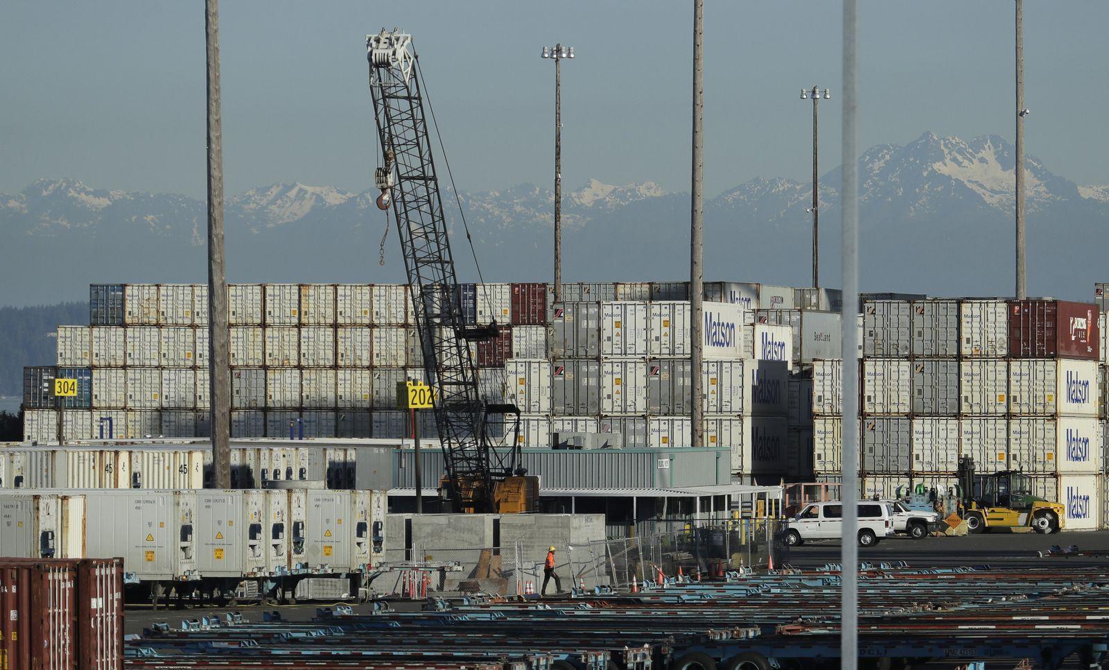 Hafen von Tacoma / Handelsstreit