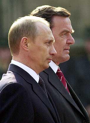 Seit an Seit: Putin und Schröder