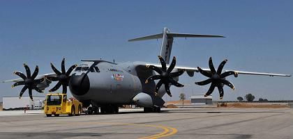 The A400M during a presentation in Seville in 2008.