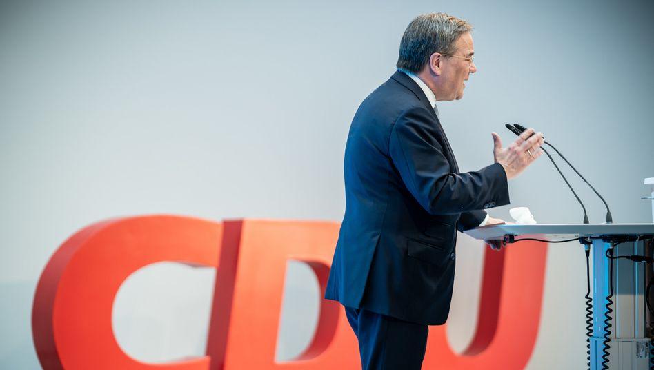 Armin Laschet: Seine Rede im Konrad-Adenauer-Haus war der Auftakt der Beteiligungskampagne für das Wahlprogramm zur Bundestagswahl im September