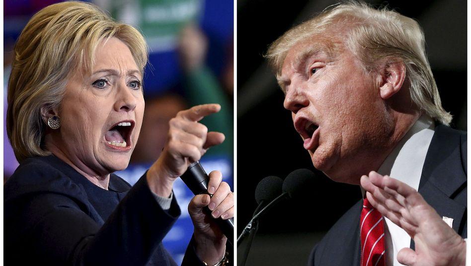 Kontrahenten Clinton, Trump