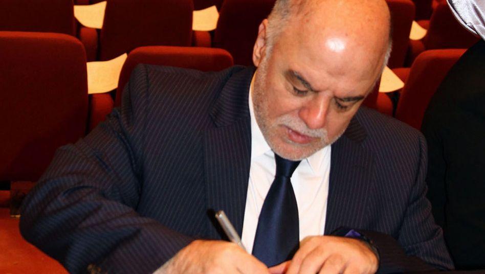 Neuer irakischer Regierungschef Abadi (Archivbild): Unterstützung vom Nachbarn