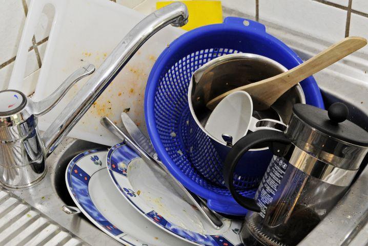 Abspülen? Was sich nicht sauberlecken lässt, bleibt stehen, die Kommune wird das richten