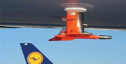 Mess-Sonde am Airbus: Quecksilber-Emissionen stark saisonabhängig