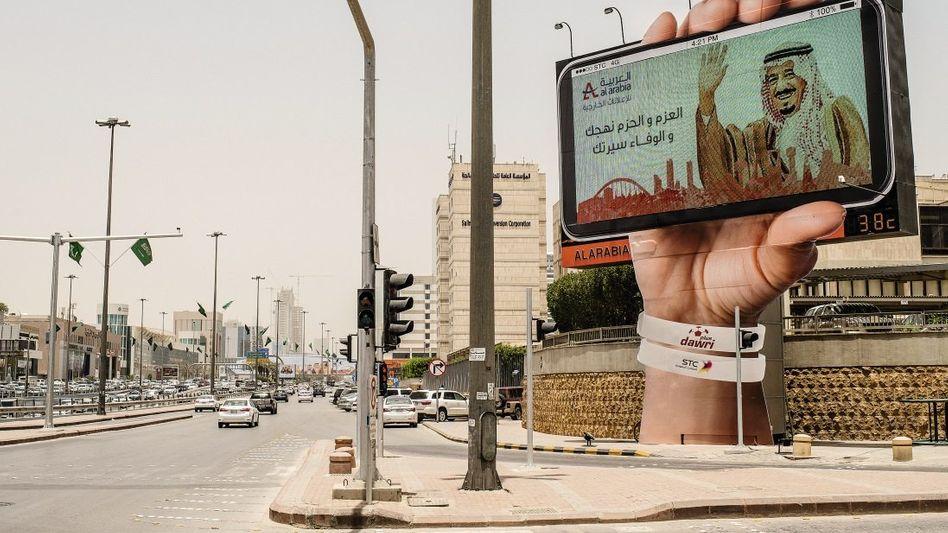 Werbung mit König Salman in Riad
