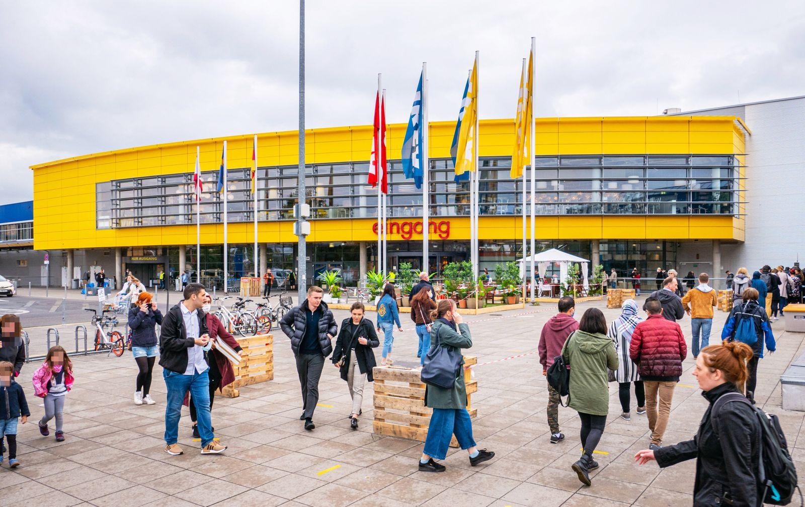 25.05.2020,Berlin,Deutschland,GER, die Stadt in Zeiten der Corona Pandemie.IKEA Filiale Tempelhof. *** 25 05 2020,Berli