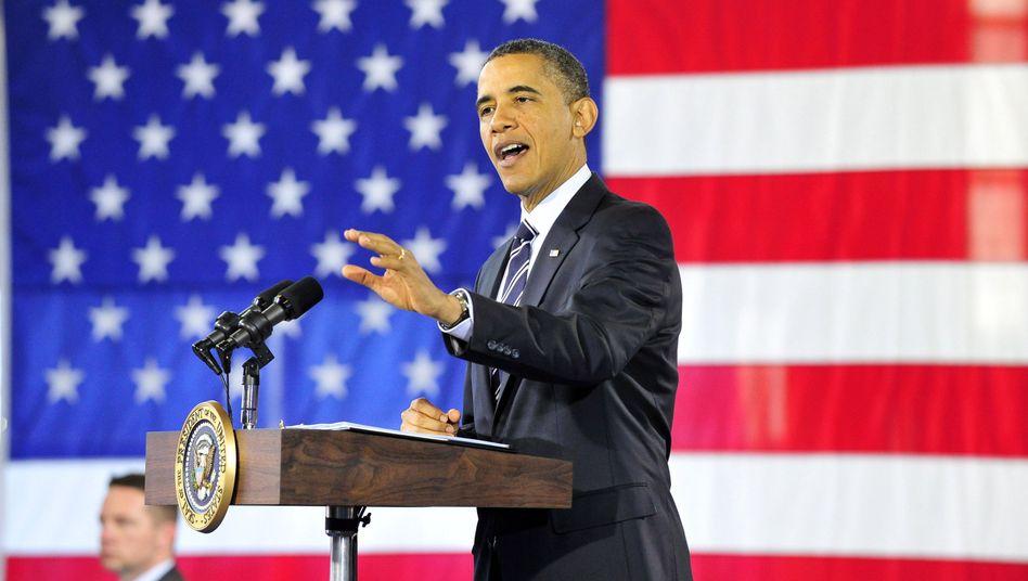 US-Präsident Barack Obama: Schärfere Tonart im Iran-Konflikt