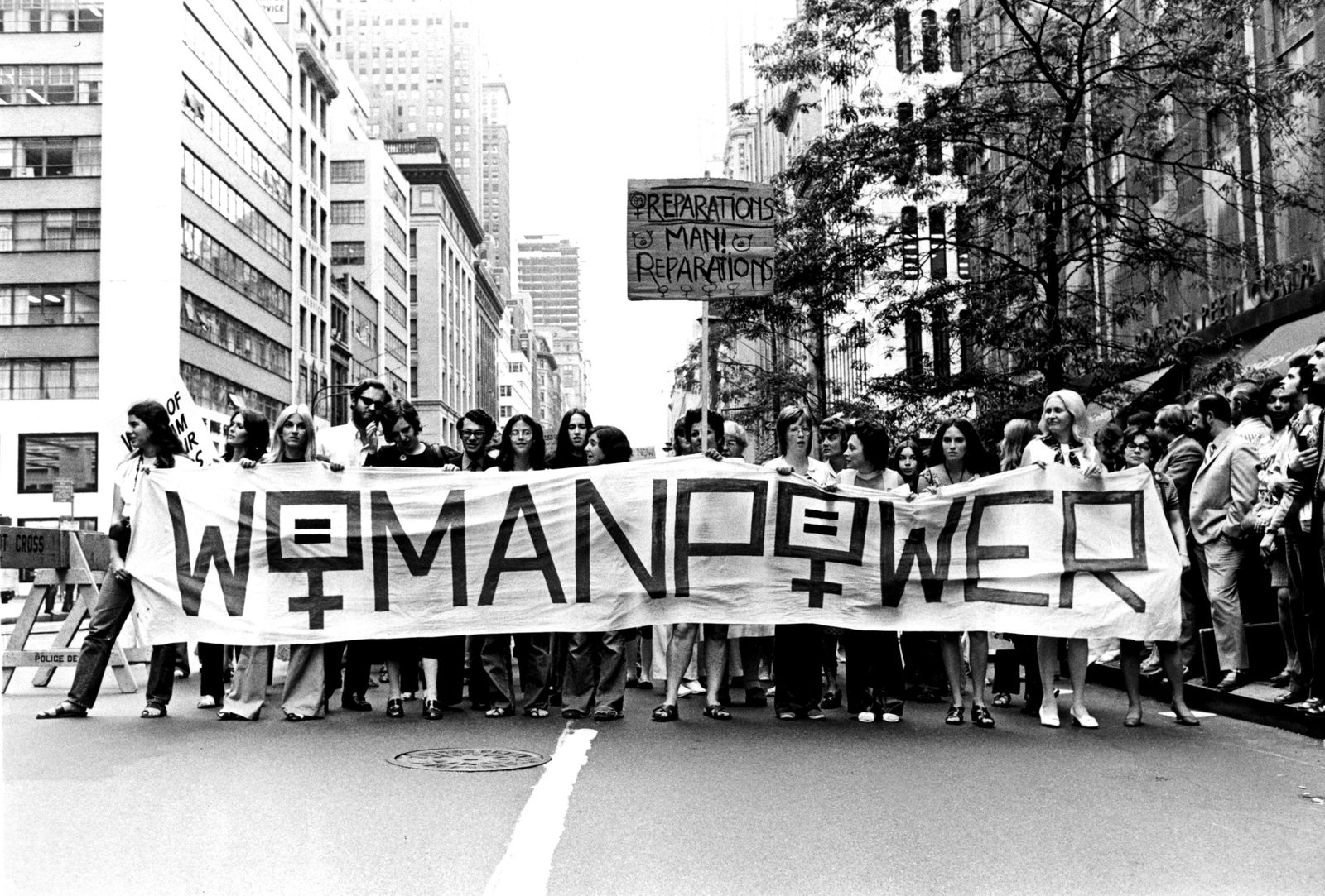 Protest in New York. March for women's liberation