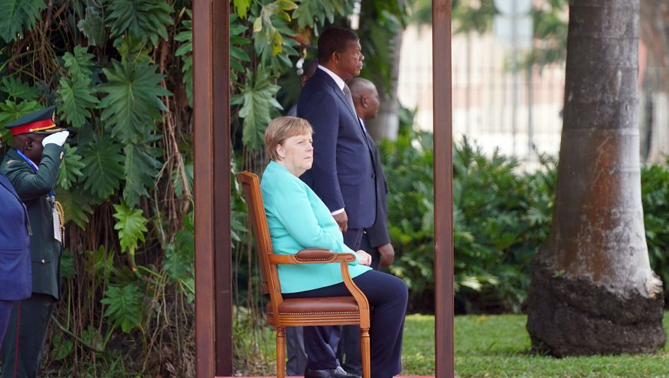 Bundeskanzlerin Angela Merkel und Angolas Präsident Joao Lourenco