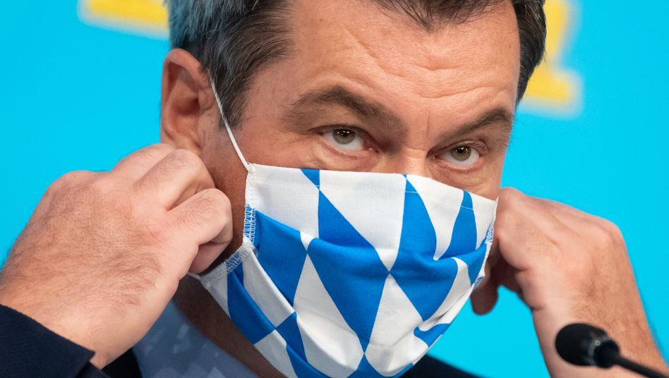 Bayerns Ministerpräsident Markus will seine Gutscheine für FFP2-Masken lieber anderen überlassen