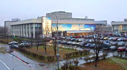 Das Theater liegt in einem Moskauer Arbeiterbezirk