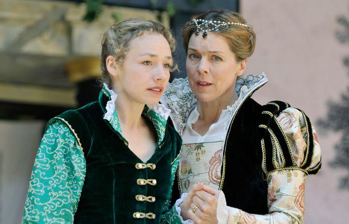 Shakespeare-Aufführung im Globe Theatre in London