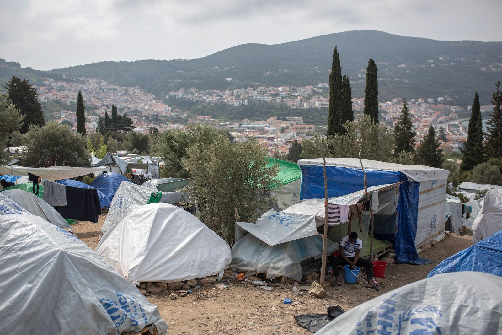 EINMALIGE VERWENDUNG Socrates Baltagiannis/ Samos/ Griechenland