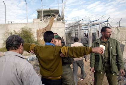 25,000 Gaza Palestinians worked in Israel before the intifada began in 2000. Last month, some Palistinians were given permission to cross checkpoints into Israel.