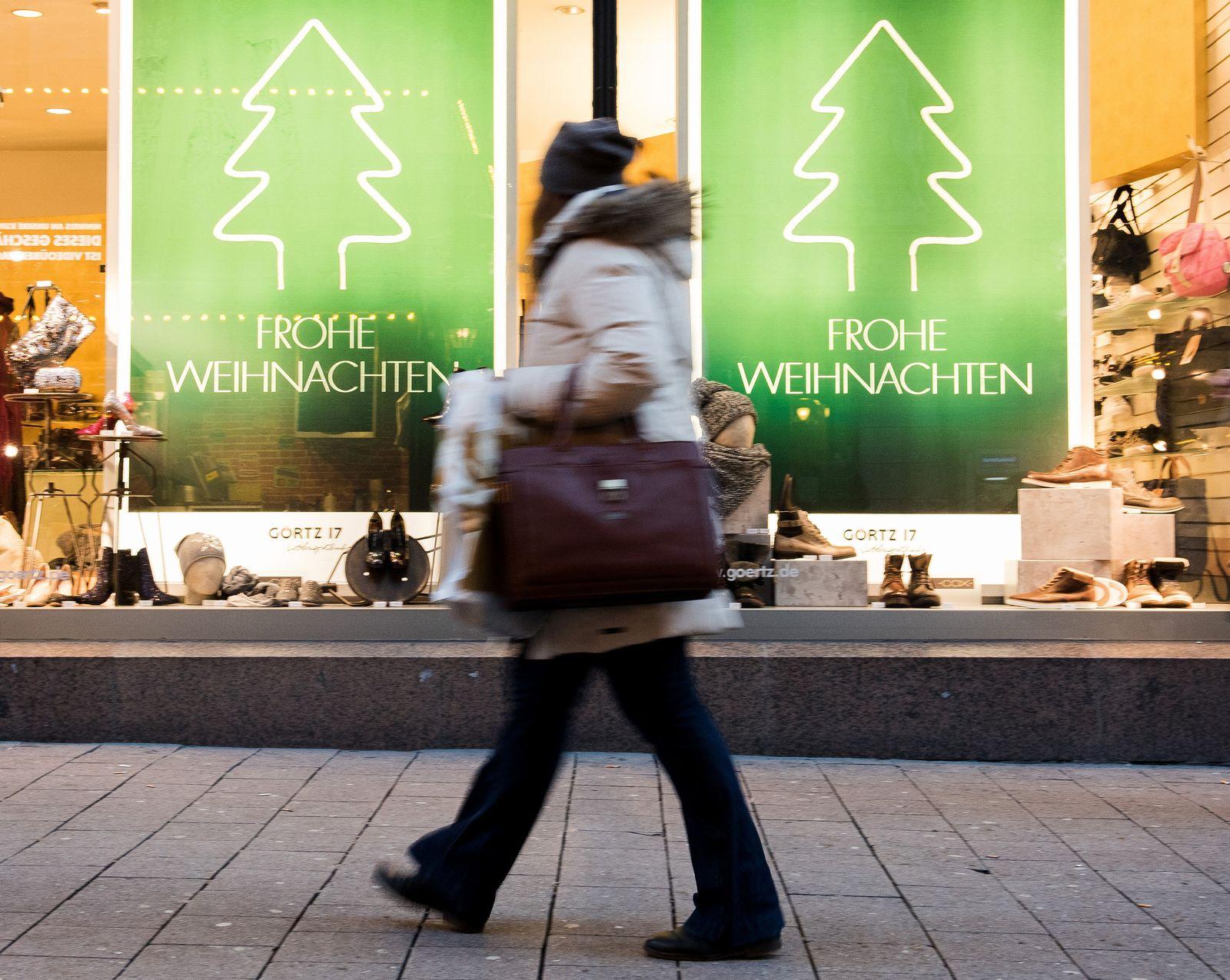 Weihnachtseinkäufe in Hamburg