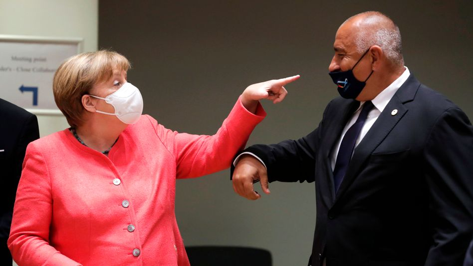 Angela Merkel und Bulgariens Ministerpräsident Bojko Borissow: So nicht!